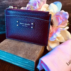 kate spade Jeanne Leather Zip Card Holder NWT